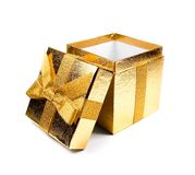 Orange gift box Royalty Free Stock Photos