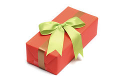 Orange gift boxs Stock Image