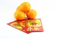 Orange gift envolop Stock Photography