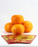 Orange gift envolop Royalty Free Stock Images