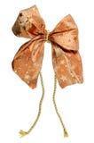 Orange gift ribbon bow Royalty Free Stock Photos