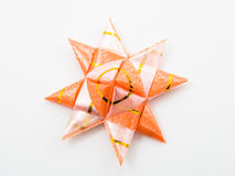 Orange gift star bows with ribbons Stock Images
