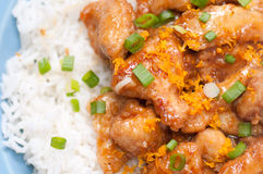 Orange ginger chicken Royalty Free Stock Photos
