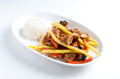Orange and ginger chicken stir fry Royalty Free Stock Images