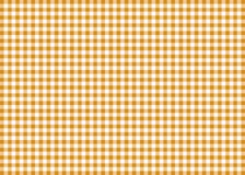Orange Gingham Pattern Background Stock Photos