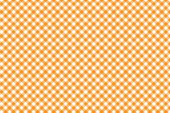 Orange Gingham pattern. Texture from rhombus/squares for - plaid, tablecloths, clothes, shirts, dresses, paper, bedding, blankets. Quilts and other textile royalty free illustration
