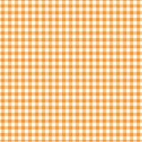Orange gingham. Qrane old fashioned gingham design with  pattern Stock Image