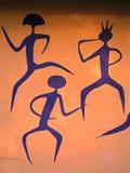 Orange Gips mit Malerei der abstrakten Person Lizenzfreies Stockbild
