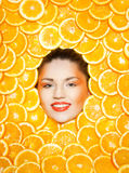 Orange girl Stock Images