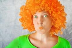 Orange Girl Royalty Free Stock Photography