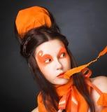 Orange girl. Royalty Free Stock Images