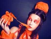 Orange girl. Stock Images