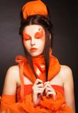Orange girl. Royalty Free Stock Image