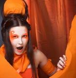Orange girl. Stock Photography
