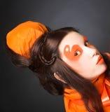 Orange girl. Royalty Free Stock Photos