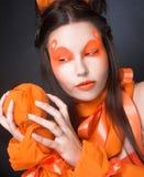 Orange girl. Stock Photo