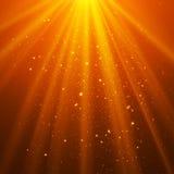 Orange glänsande abstrakt begrepp för ljusöverkantmagi Arkivbild
