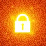 Orange glühender Verschluss Stockfotografie