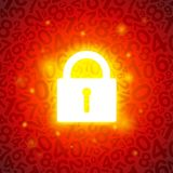 Orange glühender Verschluss Lizenzfreie Stockbilder