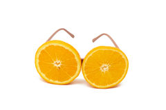 Orange glasögon Fotografering för Bildbyråer