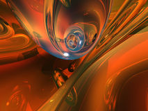 Orange Glass Abstract Stock Photos