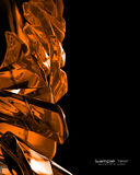 Orange glass abstract background Royalty Free Stock Photos