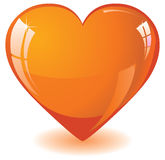 Orange glass heart Stock Image