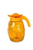 Orange glass jug . Royalty Free Stock Photo