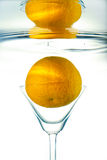Orange in glass. Stock Images