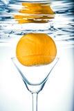Orange in glass. Stock Image