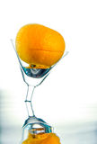 Orange in glass. Royalty Free Stock Image