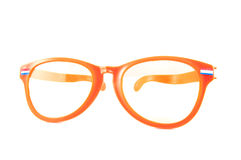 Orange glasses for Dutch WK Royalty Free Stock Images