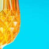 Orange glassy patternal background Stock Photography