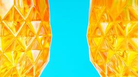Orange glassy patternal background Stock Photo