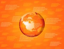 Orange global background Stock Photo