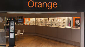 Orange is a global provider of mobile telephony Royalty Free Stock Photography
