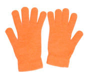 Orange gloves Royalty Free Stock Image