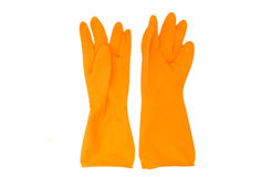 Orange gloves Stock Photo