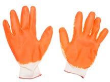 Orange gloves Royalty Free Stock Photo