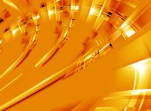 Orange glow abstract Stock Photography