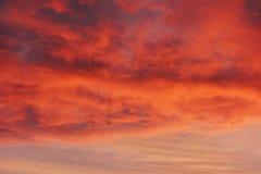 Orange glow at sunset Royalty Free Stock Photography