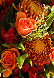 Orange glowing autumn bouquet 2 Royalty Free Stock Photo