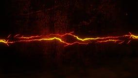 Orange Glowing Lightning Thunderbolt Intro Logo Motion Background