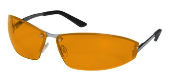 Orange goggles Stock Photography
