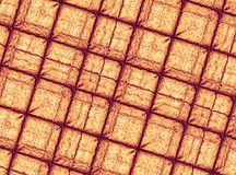 Orange gold modern abstract fractal art. Background illustration, square pattern with irregular ridges. Creative graphic template Stock Photography