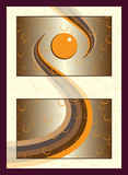 Orange gold spa cosmetics sticker label concept with bubbles. Royalty Free Stock Images