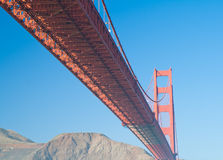 Orange Golden Gate bridge seen from Royalty Free Stock Photos