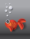 Orange Goldfish with bobbles Royalty Free Stock Images