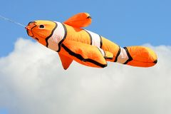 Orange goldfish kite Stock Images