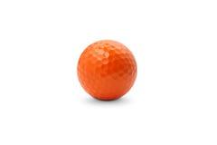 Orange golf ball. Isolated on white background Stock Image